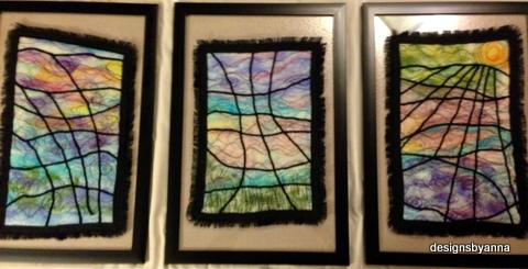 Fiber Triptych