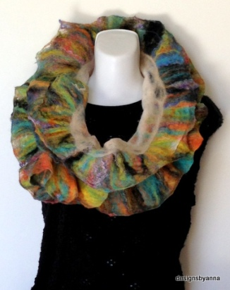 Night at the Opera felted ruffle scarf
