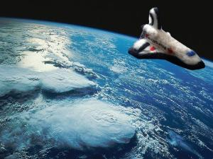 needle felted space shuttle by M Huete photographed by L. Huete .jpg large